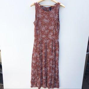VINTAGE | Dotted Button Back Midi Dress